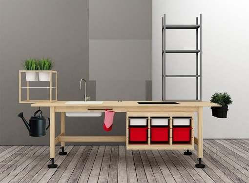Arredi per ufficio scaffali compattabili creati combinando mobili ikea - Mobili studio ikea ...