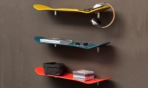 Oggetti di uso quotidiano riciclati come originali mobili design - Etagere pour chambre ado ...