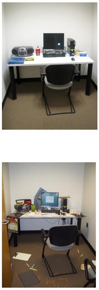 uffici usati nell'esperimento