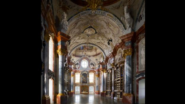 Austria, biblioteca Altenburg-Abbey