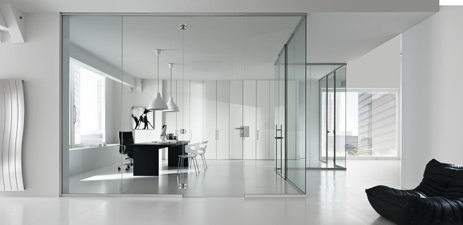 La mercanti arreda i nuovi uffici di with pareti divisorie - Pareti divisorie in vetro per interni casa ...